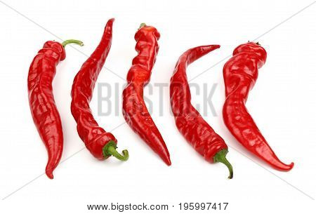 Red Hot Chili Peppers Close Up Isolated On White