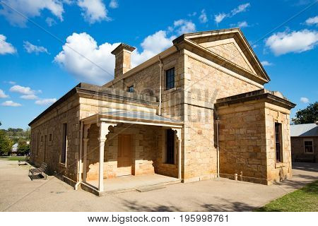 The Beechworth Historic and Cultural Precinc on a warm autumn day in Victoria, Australia