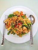 Thai fusion food, noodle spice, Pad Kii Mao poster