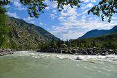 Ilgumen (Ilgumensky) rapids on Katun river in Altai mountains. Altay Republic Siberia Russia. poster