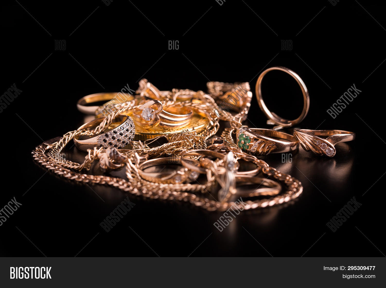 Gold Jewelry Closeup Image Photo Free Trial Bigstock