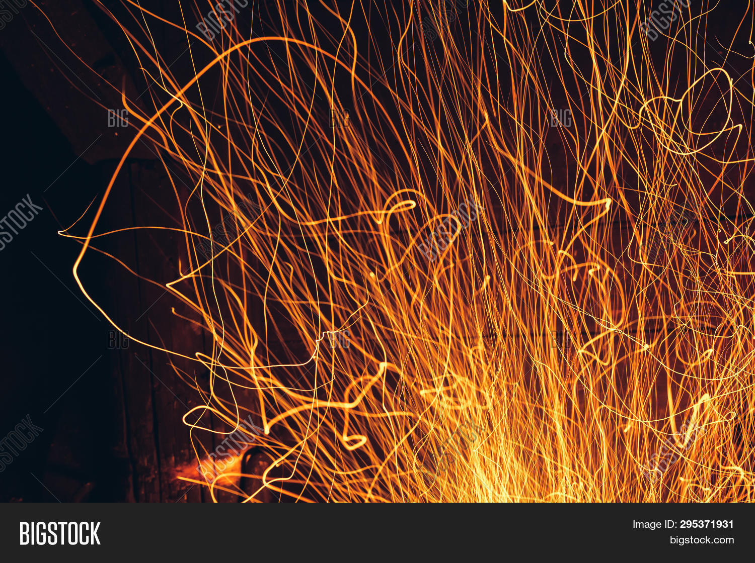Yellow Fire Sparks Image & Photo (Free Trial) | Bigstock