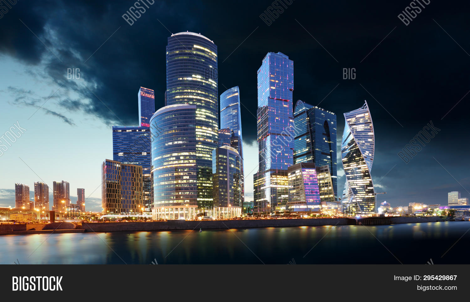 Moscow City Skyline Image Photo Free Trial Bigstock