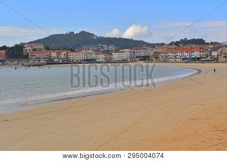 Nigran; America Beach And Panxon Vilage In Galicia