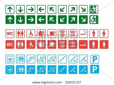 Navigation signs set