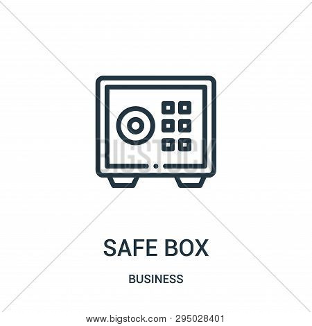 Safe Box Icon Isolated On White Background From Business Collection. Safe Box Icon Trendy And Modern