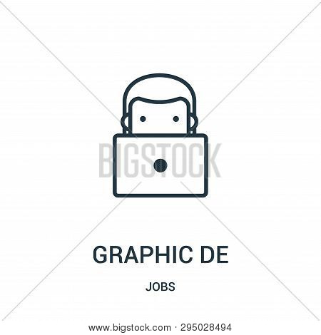 Graphic Designer Icon Isolated On White Background From Jobs Collection. Graphic Designer Icon Trend