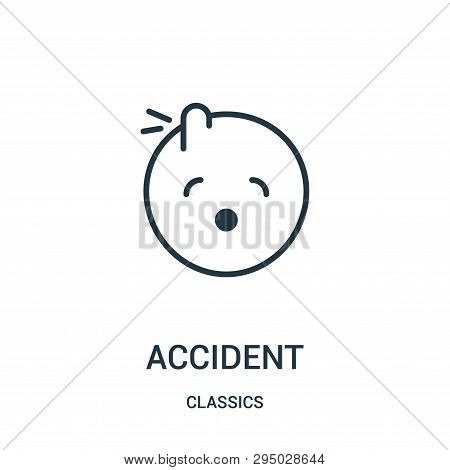 Accident Icon Isolated On White Background From Classics Collection. Accident Icon Trendy And Modern