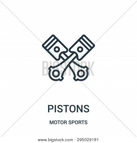 Pistons Icon Isolated On White Background From Motor Sports Collection. Pistons Icon Trendy And Mode