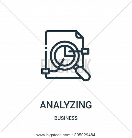 Analyzing Icon Isolated On White Background From Business Collection. Analyzing Icon Trendy And Mode