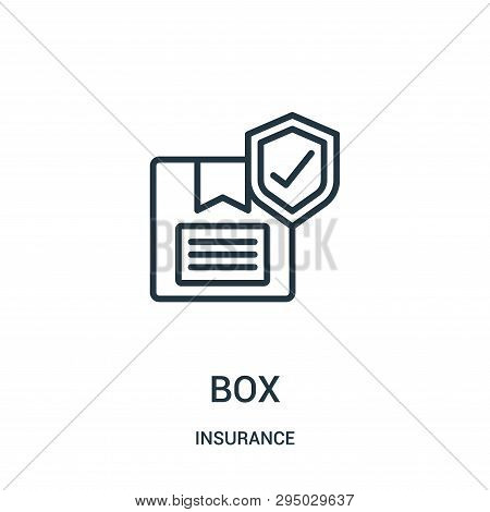 Box Icon Isolated On White Background From Insurance Collection. Box Icon Trendy And Modern Box Symb
