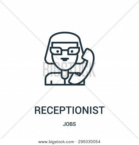 Receptionist Icon Isolated On White Background From Jobs Collection. Receptionist Icon Trendy And Mo