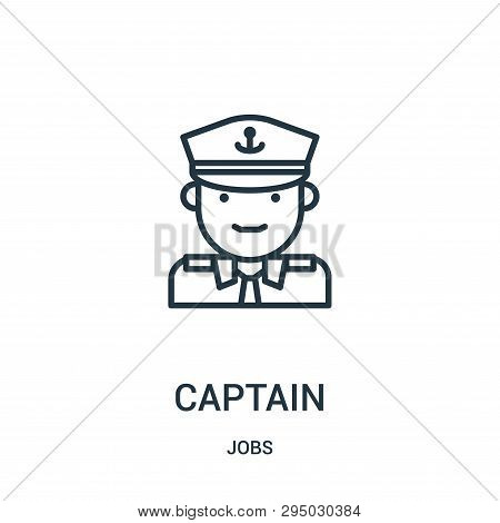 Captain Icon Isolated On White Background From Jobs Collection. Captain Icon Trendy And Modern Capta