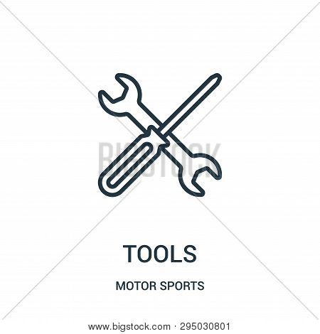 Tools Icon Isolated On White Background From Motor Sports Collection. Tools Icon Trendy And Modern T