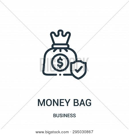 Money Bag Icon Isolated On White Background From Business Collection. Money Bag Icon Trendy And Mode