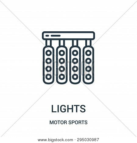 Lights Icon Isolated On White Background From Motor Sports Collection. Lights Icon Trendy And Modern