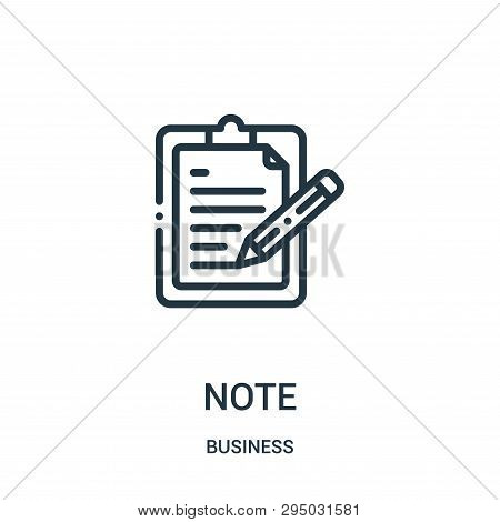 Note Icon Isolated On White Background From Business Collection. Note Icon Trendy And Modern Note Sy