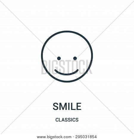 Smile Icon Isolated On White Background From Classics Collection. Smile Icon Trendy And Modern Smile