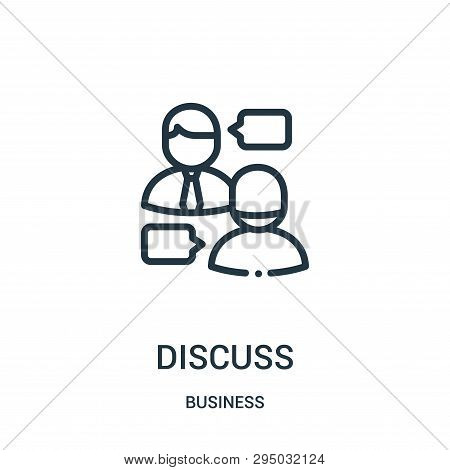 Discuss Icon Isolated On White Background From Business Collection. Discuss Icon Trendy And Modern D