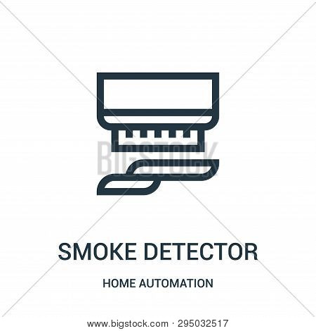 Smoke Detector Icon Isolated On White Background From Home Automation Collection. Smoke Detector Ico