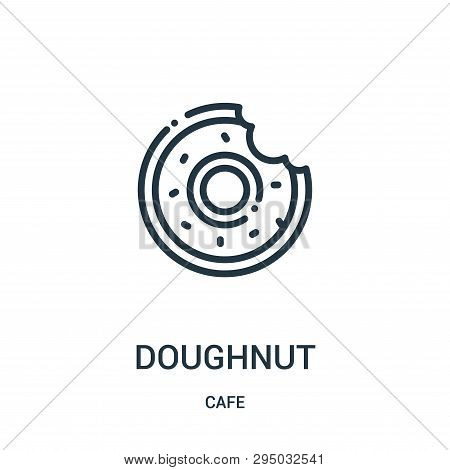 Doughnut Icon Isolated On White Background From Cafe Collection. Doughnut Icon Trendy And Modern Dou