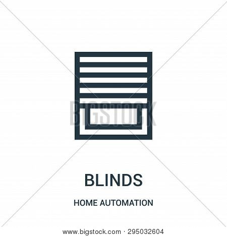 Blinds Icon Isolated On White Background From Home Automation Collection. Blinds Icon Trendy And Mod
