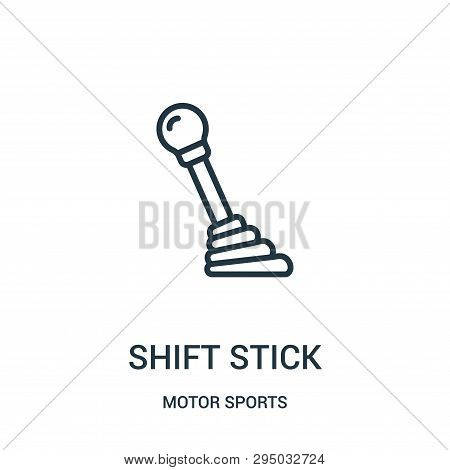 Shift Stick Icon Isolated On White Background From Motor Sports Collection. Shift Stick Icon Trendy
