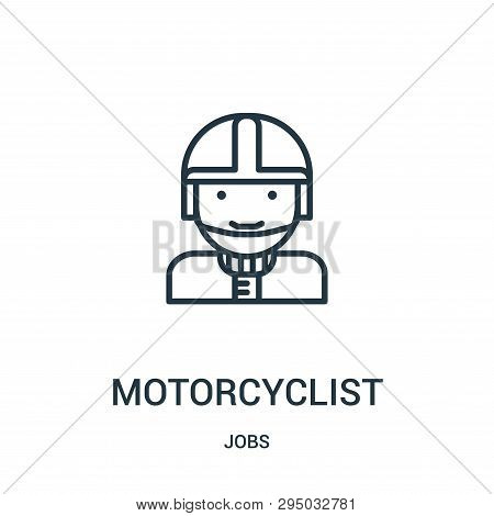 Motorcyclist Icon Isolated On White Background From Jobs Collection. Motorcyclist Icon Trendy And Mo