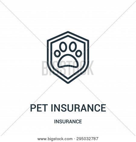 Pet Insurance Icon Isolated On White Background From Insurance Collection. Pet Insurance Icon Trendy