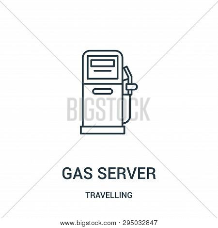 Gas Server Icon Isolated On White Background From Travelling Collection. Gas Server Icon Trendy And