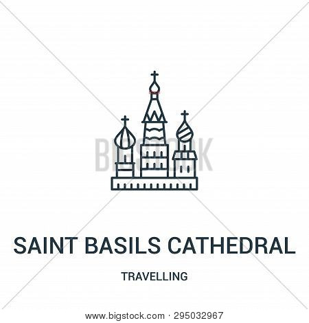 Saint Basils Cathedral Icon Isolated On White Background From Travelling Collection. Saint Basils Ca