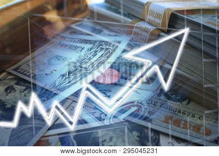 Day Trader Profits In Bull Market High Quality Stock Photo