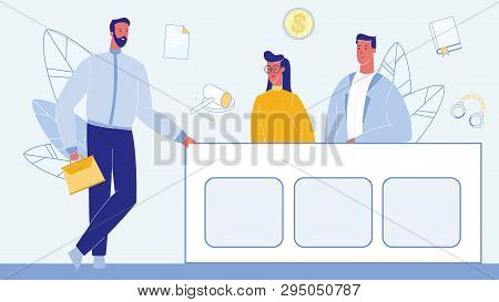 Lawyer In Courtroom Color Vector Illustration. Jury Trial. Confident Advocate Male Character. Witnes