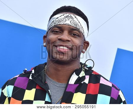 LOS ANGELES - APR 08:  Jimmie Allen arrives for the 'Little' Premiere on April 08, 2019 in Westwood, CA