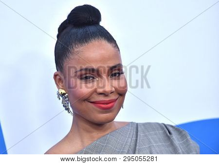 LOS ANGELES - APR 08:  Sanaa Lathan arrives for the 'Little' Premiere on April 08, 2019 in Westwood, CA