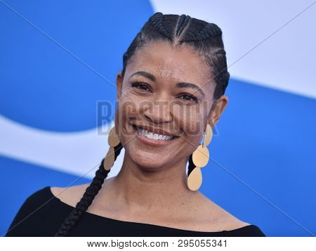 LOS ANGELES - APR 08:  Tina Gordon arrives for the 'Little' Premiere on April 08, 2019 in Westwood, CA