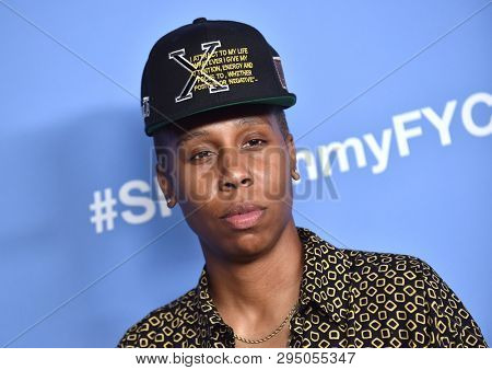 LOS ANGELES - APR 10:  Lena Waithe arrives for Shotime's 'The Chi' FYC Event on April 10, 2019 in West Hollywood, CA