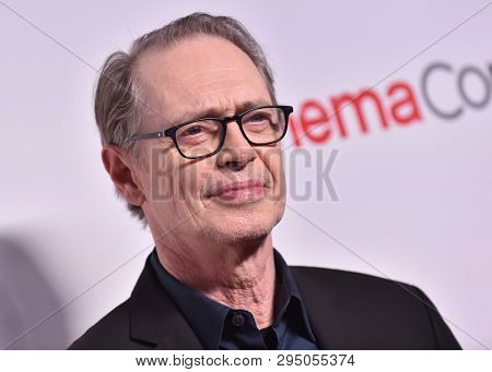 LAS VEGAS - APR 04:  Steve Buscemi arrives for the CinemaCon 2019 - Big Screen Achievement Awards on April 04, 2019 in Las Vegas, NV