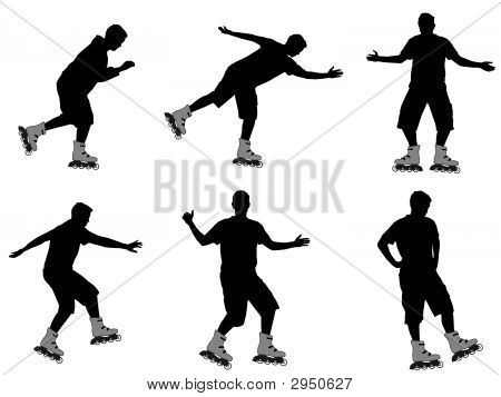 Roller Skating Silhouettes