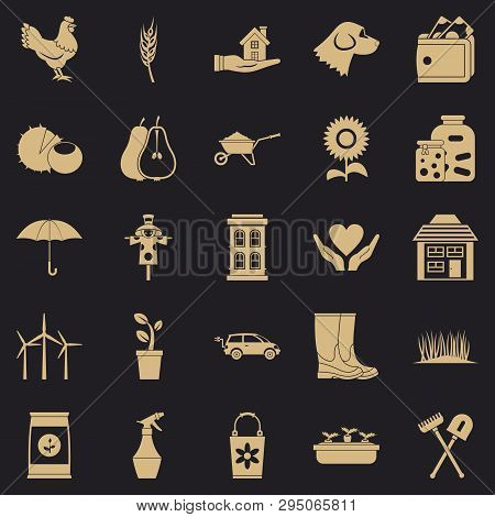 Grange Icons Set. Simple Set Of 25 Grange Vector Icons For Web For Any Design