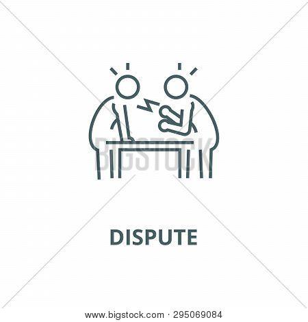 Dispute, Debate, Conversation Line Icon, Vector. Dispute, Debate, Conversation Outline Sign, Concept