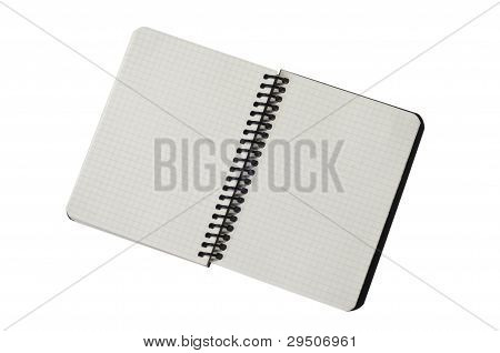Spiral notepad with path Empty papers