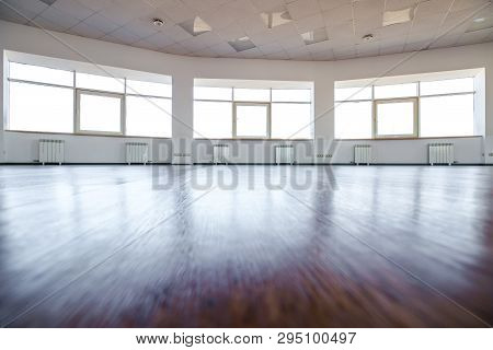 Dance Hall. Empty Hall For Dancing. Dance Hall Background.