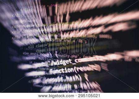 Programming source code HTML for Website development. Server logs analysis. poster