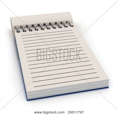 3D Illustration of a Notepad