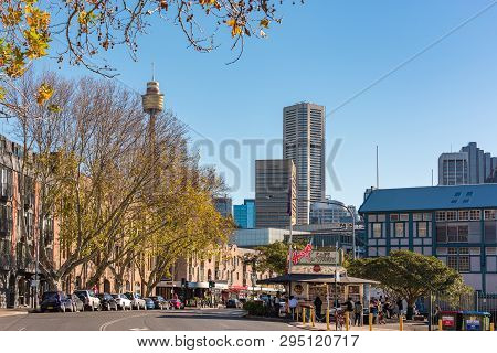 Sydney, Australia - July 03, 2016: Sydney Streets With View Of Cbd, Woolloomooloo District