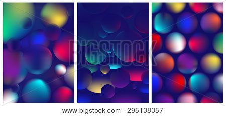 Vibrant Colorful Abstract Gradient In The Sphere, Color Reflexes On Geometric Shapes, Trendy Modern