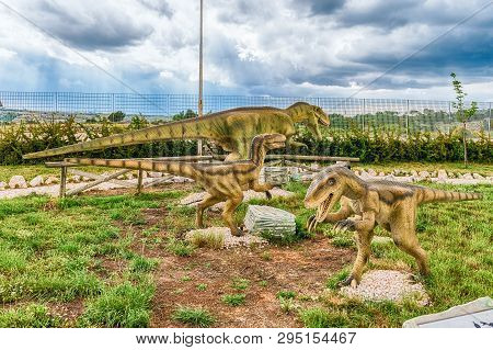 San Marco In Lamis, Italy - June 9: Dinosaurs Featured In The Dino Park In San Marco In Lamis, Small