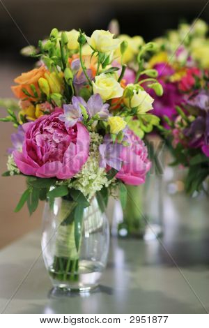Bouquets In Vases