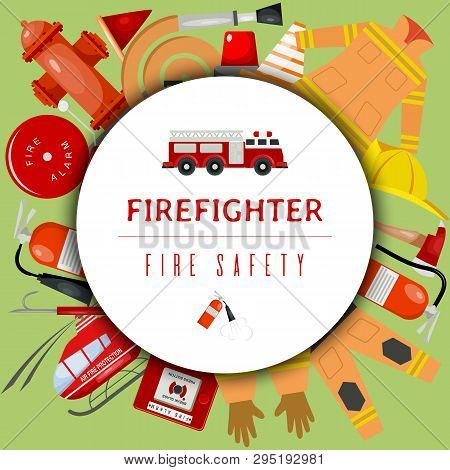 Fire Safety Round Vector & Photo (Free Trial) | Bigstock
